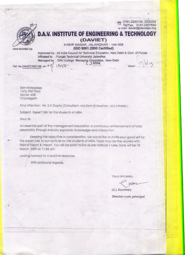 Import Export Exim Training Management Course In Chandigarh Punjab