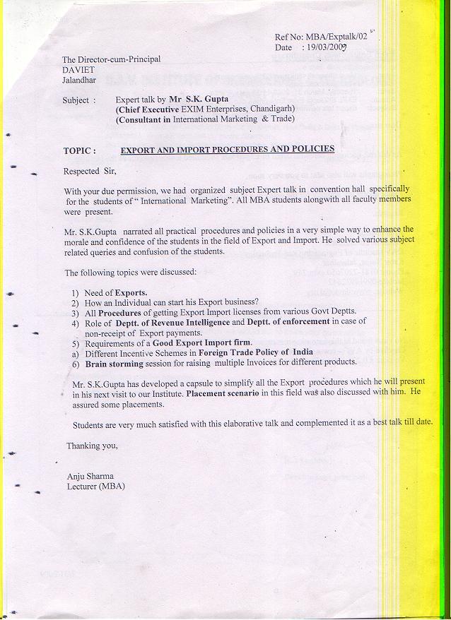 Import Export, Exim Training Management Course In Chandigarh